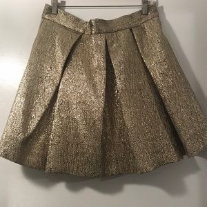Eliza J Gold Lame skirt.